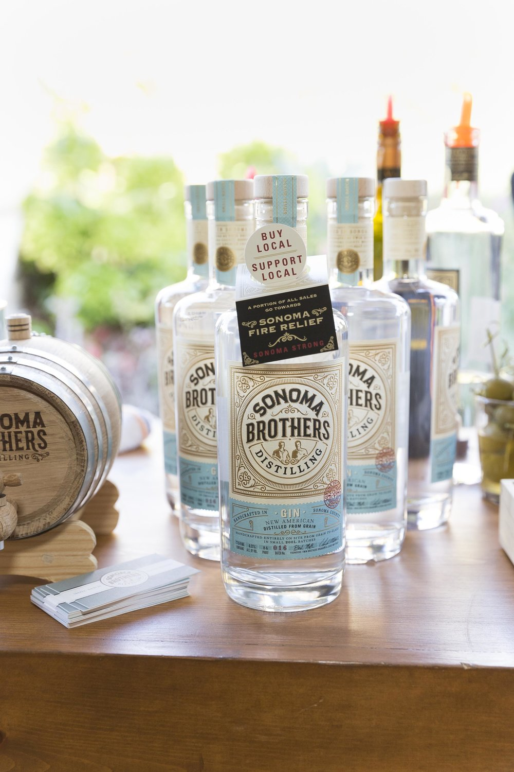 Sonoma Brothers locally distilled premium liquors.
