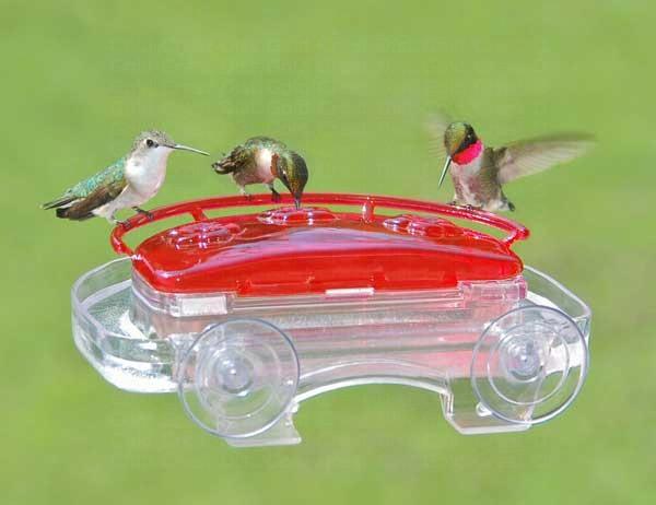 Window 3 Port Hummingbird Feeder