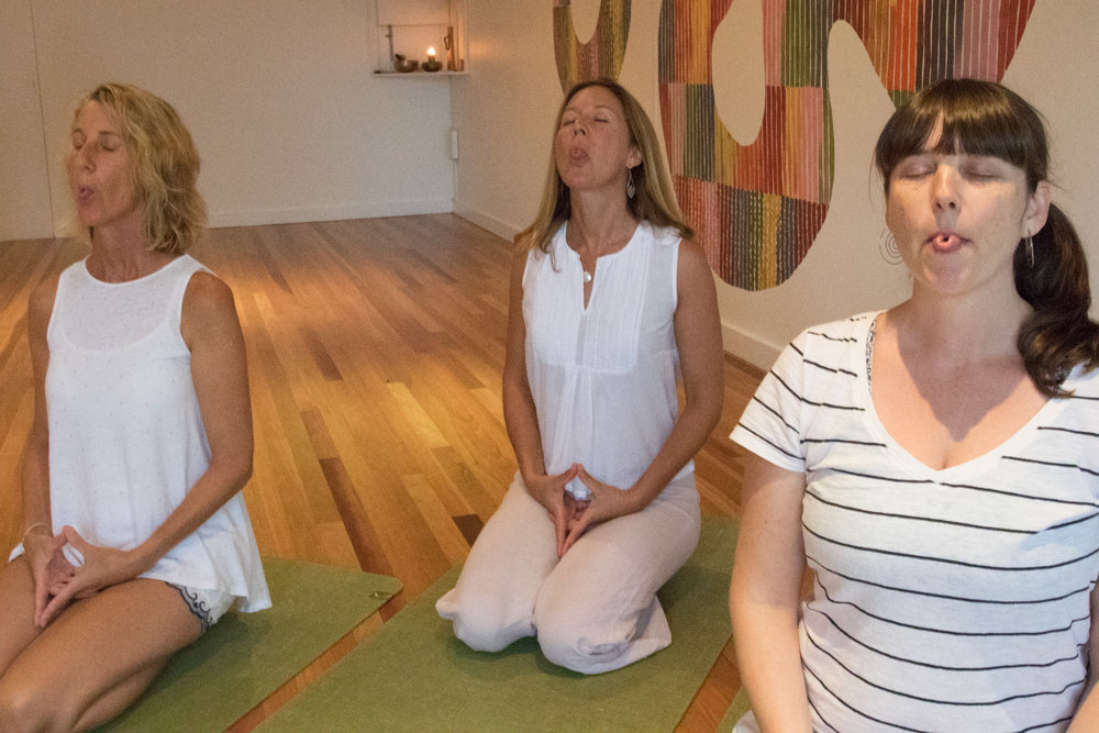 Pranayama classes at the studio in Mona Vale