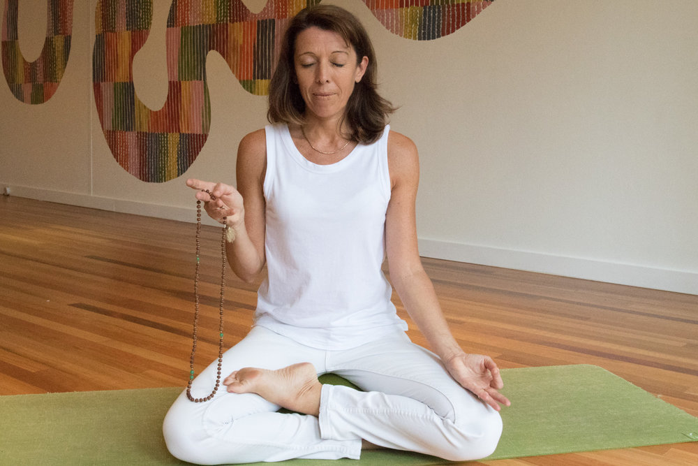 Japa Meditation class at the studio in Mona Vale