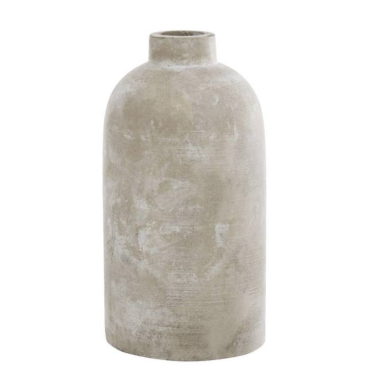 Bouclair Global Soul Bottle Vase Cement | Spotlight