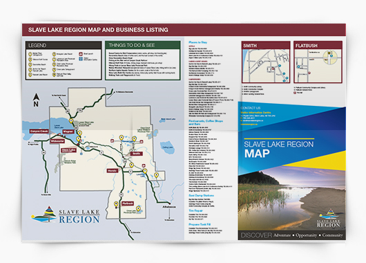Slave Lake Visitor Map