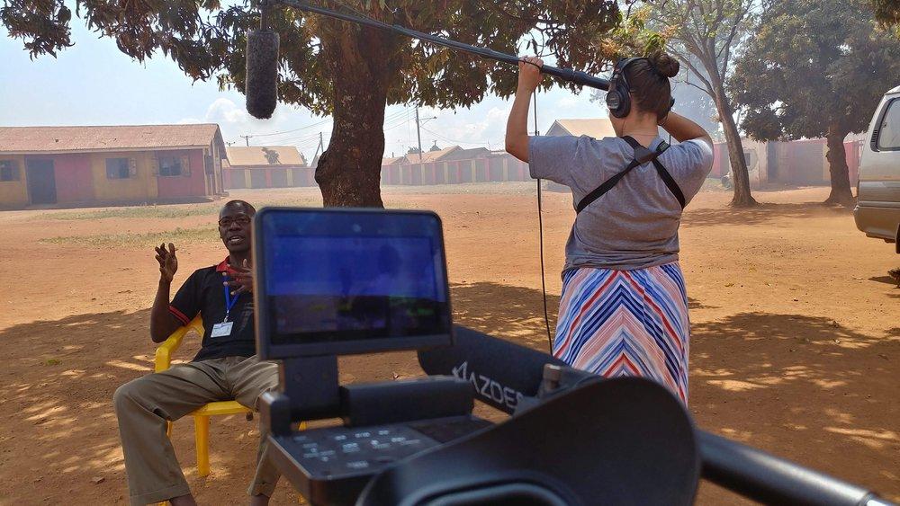 Richard Mugeni (left) & Heidi Reinprecht (right) in Masese, Uganda