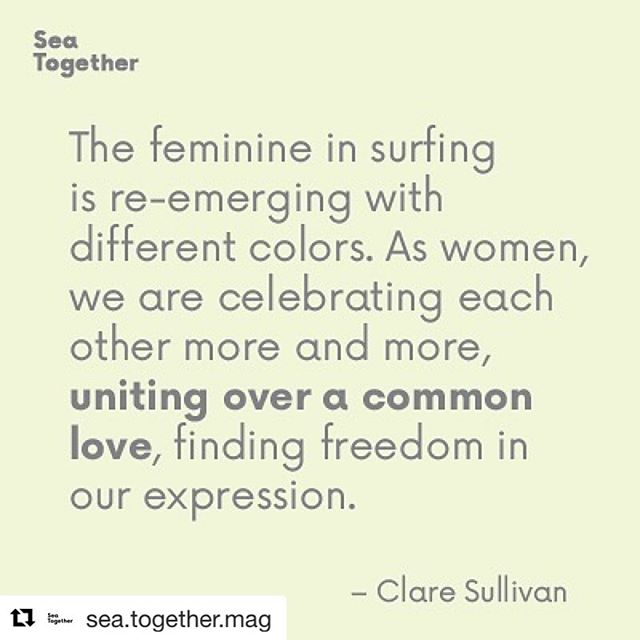 #Repost from  @sea.together.mag 💕 ・・・ Thanks to @claresull for sharing her thoughts on #sisterhood 👭 We don't have to compare us to other women✨There is no comparison between the sun & the moon. They shine when it's their time 🌓 It's our time to embrace, support & celebrate each other.