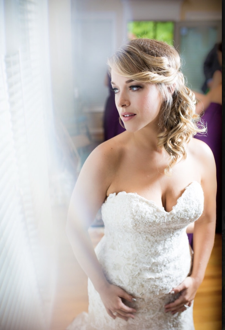 "a happy bride - Katie did my hair and makeup for my wedding and bridal party in October 2015. A few months before I went to her salon for a trial run and felt good once leaving, but ending up changing my mind DAY OF my wedding. I sat down in front of Katie only hours before my big day and told her I wanted to feel like myself and that our trial run seemed like I was trying too hard to be ""done up"". Katie didn't flinch and said not a problem. I gave a tiny bit of direction and she completely got me. I have never felt that beautiful, calm, and more like myself than that day. It was definitely in large part to Katie's sweet and calm demeanor and, of course, talent and professionalism. Since then I have recommended her to several friends and they've all been just as pleased. Thanks Katie, for being one of the good and real ones in the biz!!- Lauren Sracic"