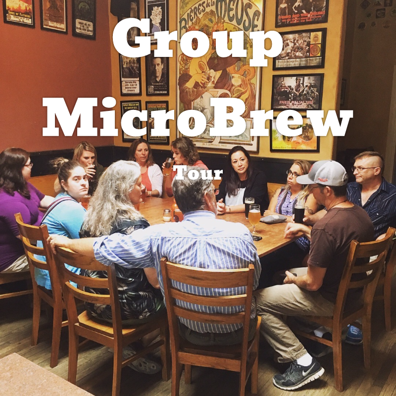 Great for groups up to 14 people! Visit 4 local microbreweries + a local cidery. Customizable options, and lots of fun.