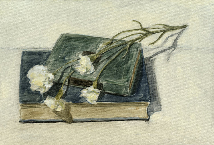 Books and Flowers No. 1