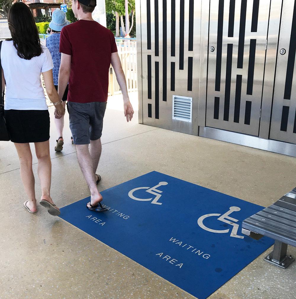 Newer CityCat Terminals have wheelchair waiting areas.