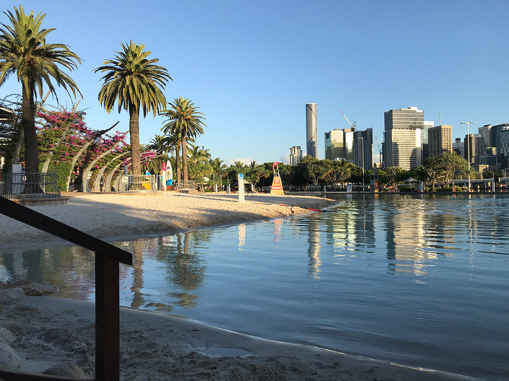 The only beach in Brisbane - inland & artificial there are beach wheelchairs available.