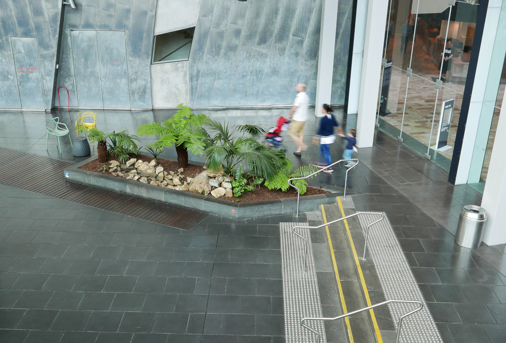 The ramp in the Atrium makes access easy