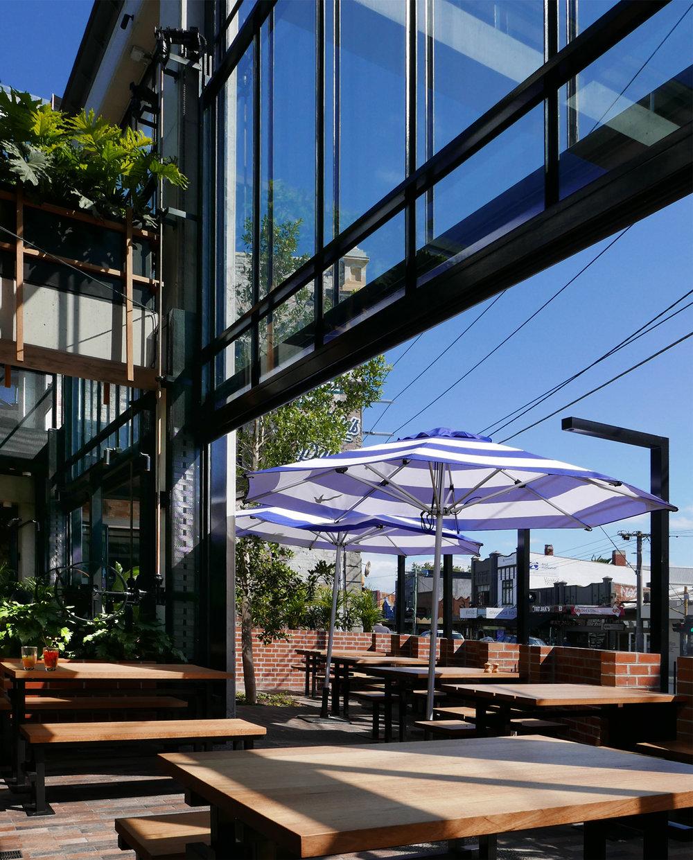 Garden Bar outdoor dining area.