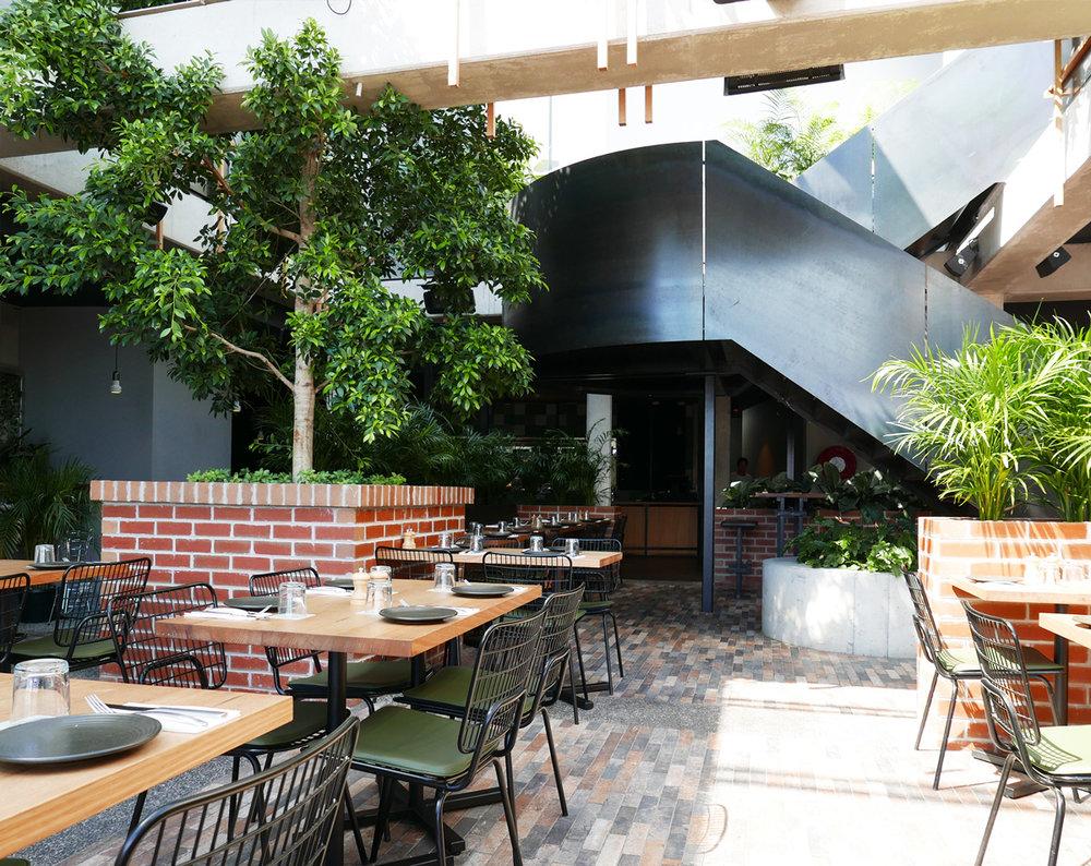 Garden Bar dining area.