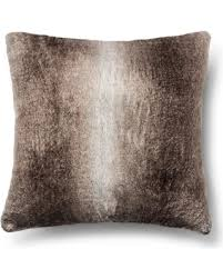 Neutral Faux Fur Euro Pillow
