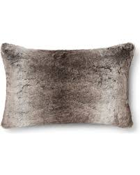 Neutral Faux Fur Lumbar Pillow