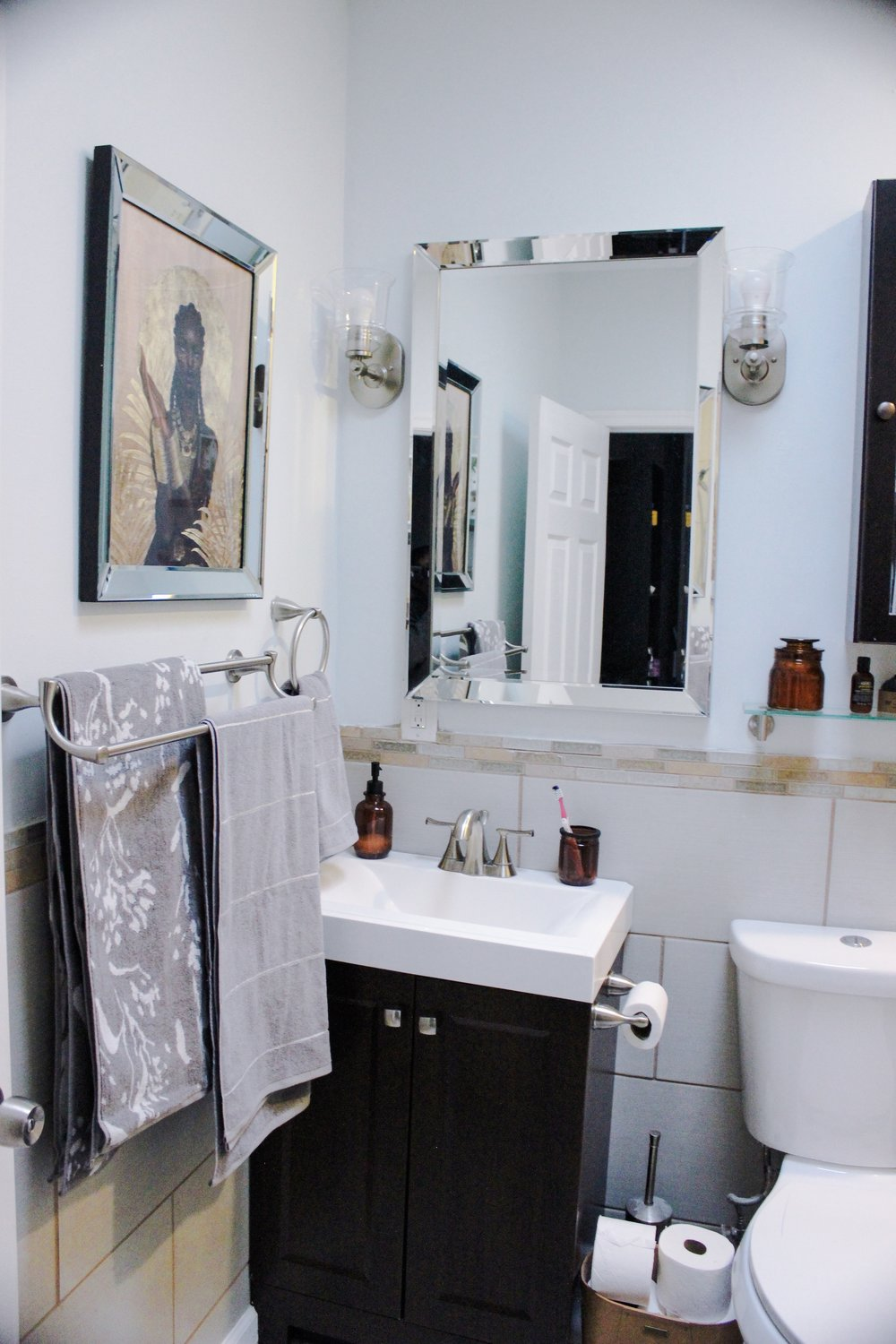 Small Bathroom Makeover - Spa at Home on a Budget
