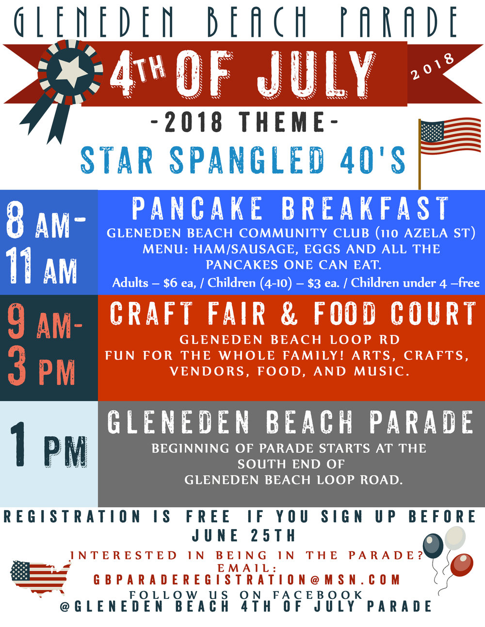 Gleneden Beach 4th of July Parade 2018