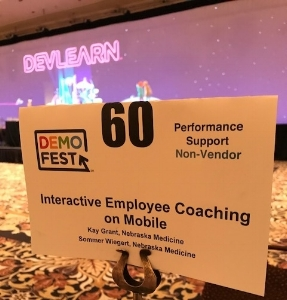2017 DemoFest participant at the DevLearn conference in Las Vegas