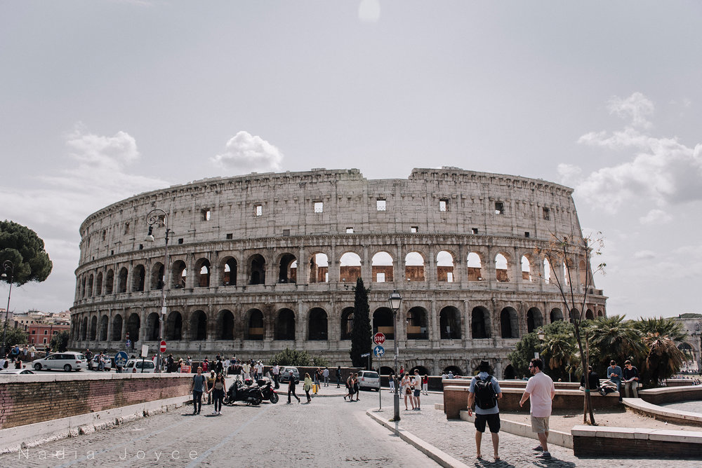 My very first view of the Colosseum, and the first image (of many) I took of it.