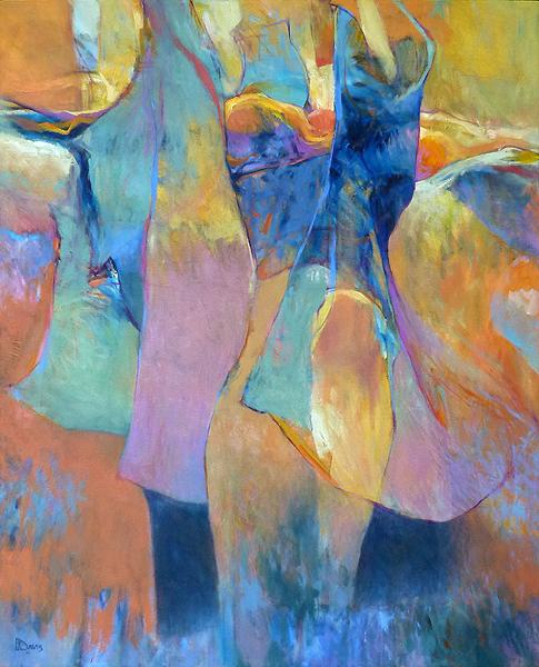 """<i> DANCER #2 </i> <br> Oil on canvas <br> 52"""" x 42"""" <br> Price: SOLD"""