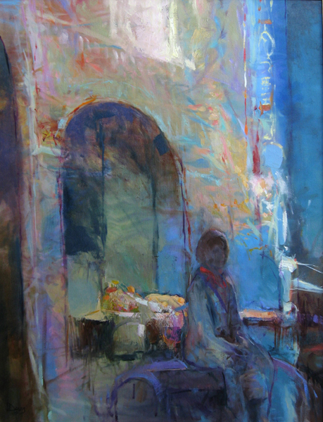 "<i> TORINO NOCTURNE </i> <br> Oil on canvas <br> 34"" x 26"" <br> SOLD"