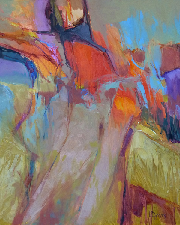 "Abstract Seated Figure    Oil on canvas  20"" x 16""  Price: $1700"