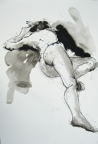 "Reclining Figure 4744    Ink wash on archival paper  22"" x 15""  Price: $500"