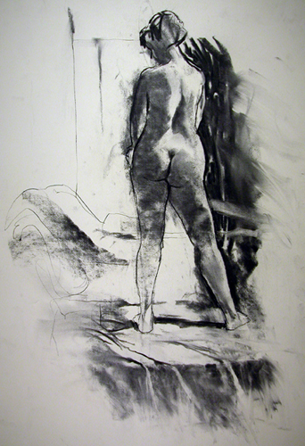 "Standing Figure 7879    Charcoal on archival paper  25"" x 19""  Price: $600"