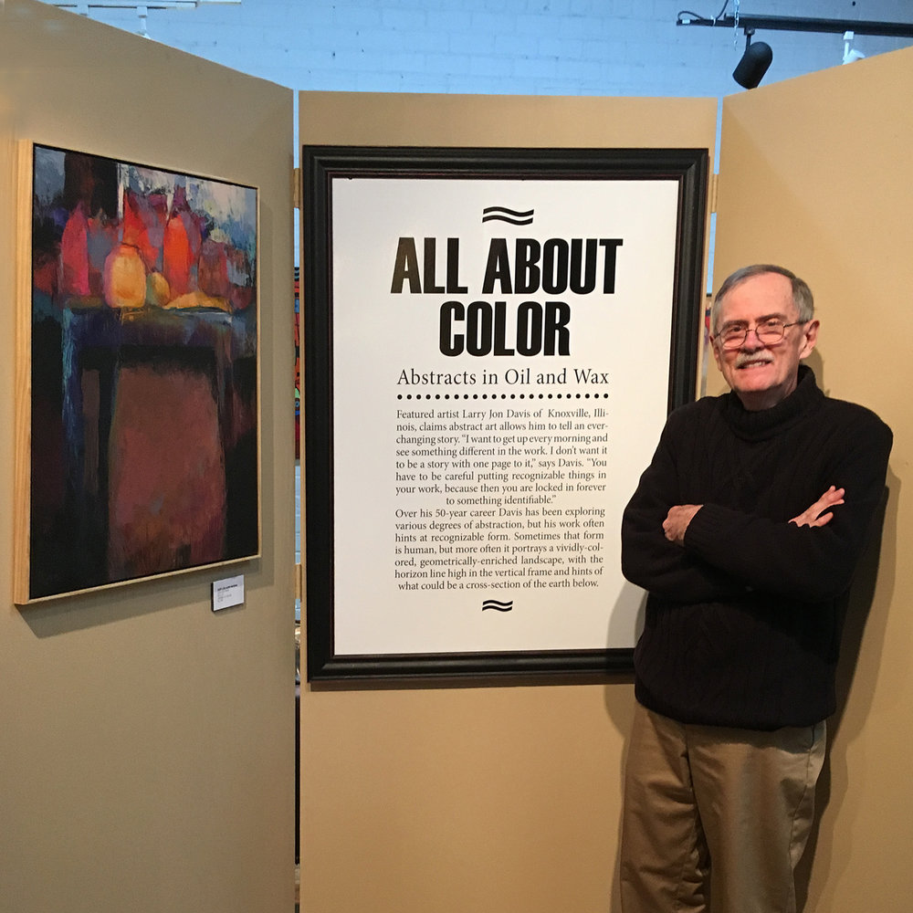 November, 2016 saw a show of the artist's works at Beréskin Gallery in Davenport, Iowa. The exhibition was combined with a one day workshop on oil and cold wax technique. Gallery owner, Pat Beréskin, along with the other fine artists in the gallery stable went out of their way to make the event a success.