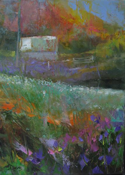 """Autumn Barn    Oil on canvas  14"""" x 10""""  Price: SOLD"""