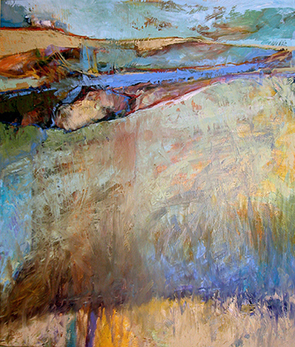 "Golden Ridge Earthscape    Oil on panel   36"" x 30""   Price: SOLD"