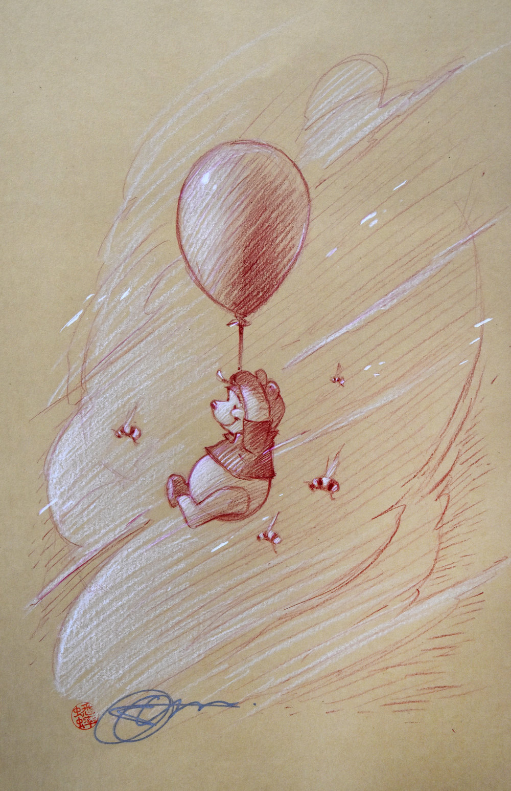Winnie the Pooh in Summer (Drawing) -