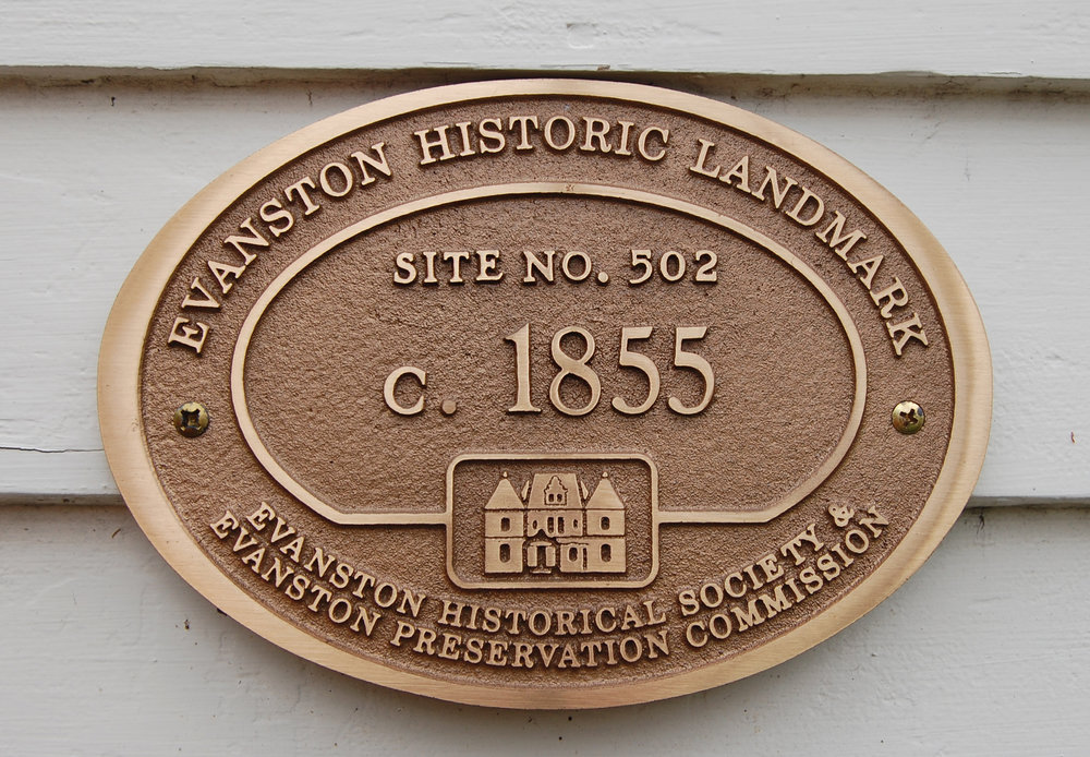 Evanston Historic Landmark, 1850s federal-style house, historic preservation, residential renovation, contextual design, Evanston Historical Society Preservation Commission