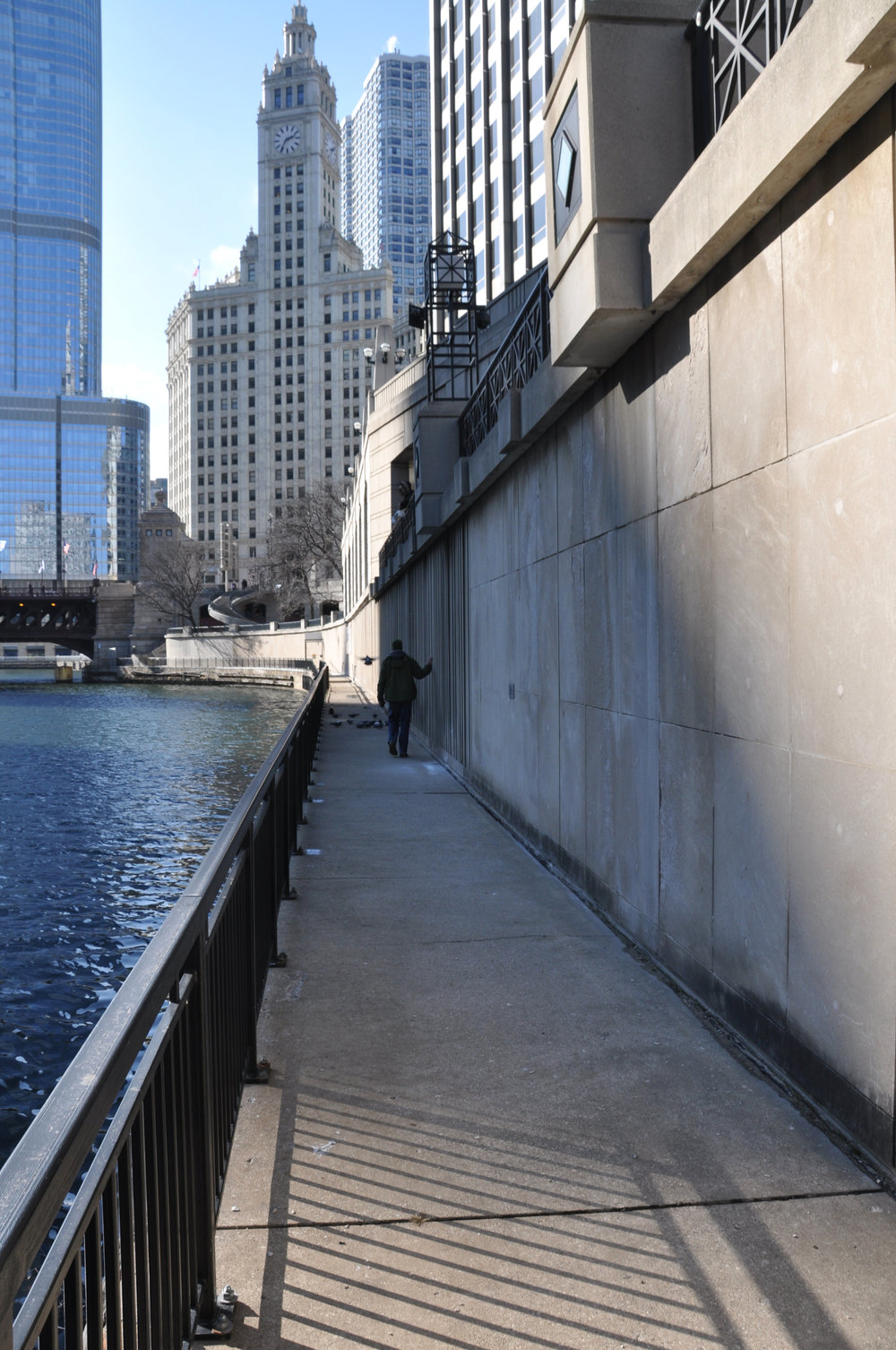 Before: boat dock at Michigan Avenue