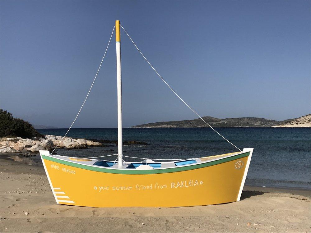 Sun of a Beach - 1.5.2018   Helios: Your summer friend from Irakleia handmade by Christianna Economou for Soab.