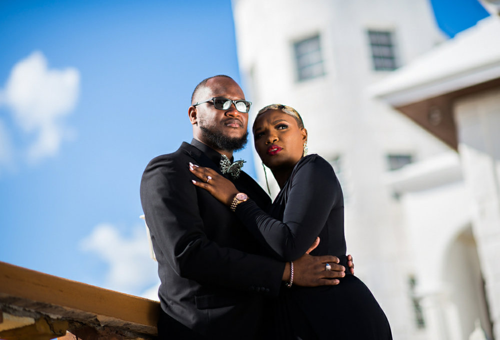 """Engagement photo of media mogul  Timothy """"Timmay"""" Bain and his fiancée Aliczia Turner taken by  Aaron Davis ."""