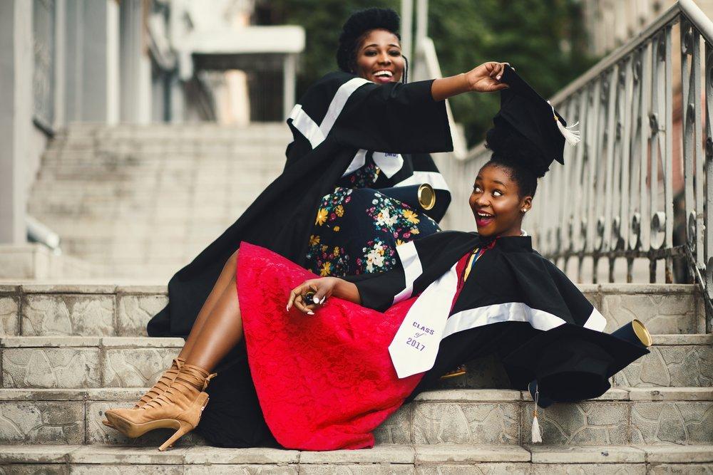 best friends prepare to graduate university.