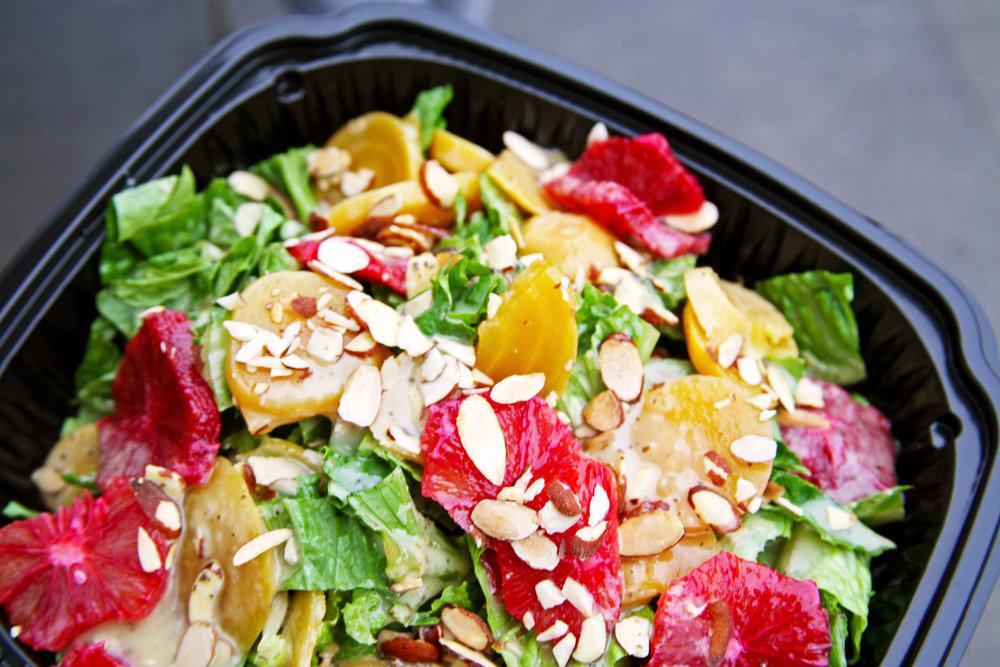 Brand new menu feature at Cafe C5, Beet BOX salad w/o gorgonzola