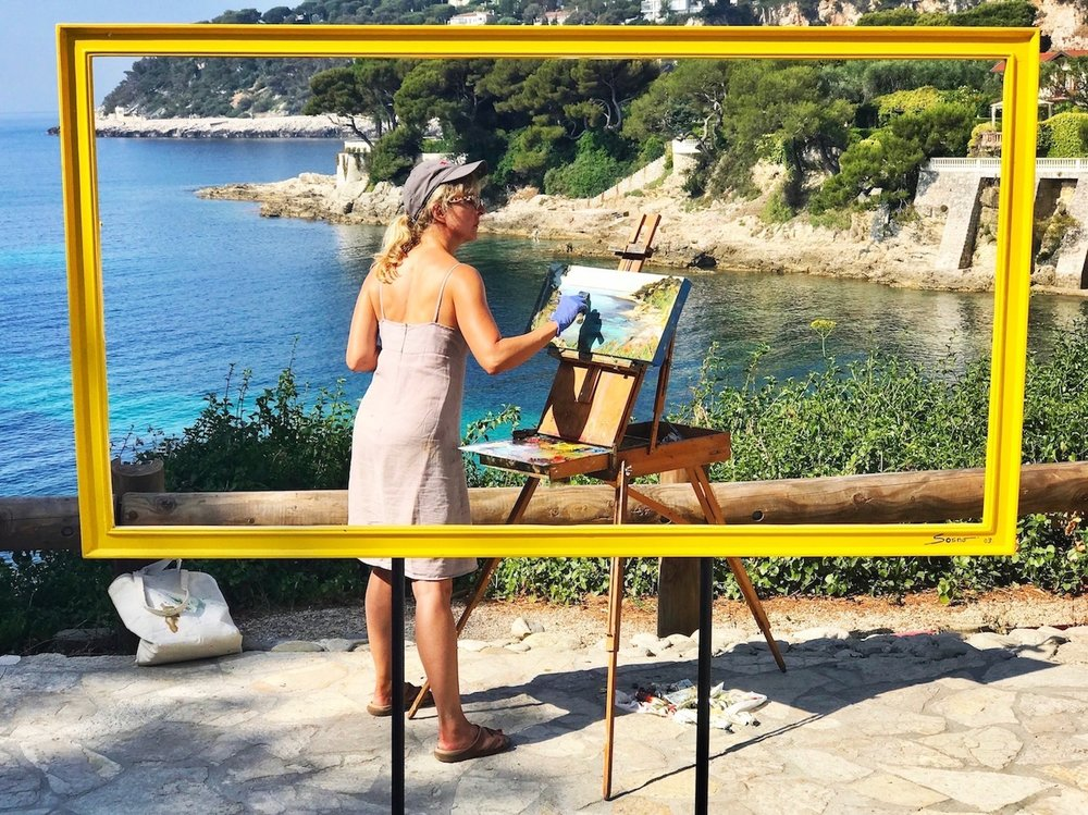 en plein air in St Jean Cap Ferrat