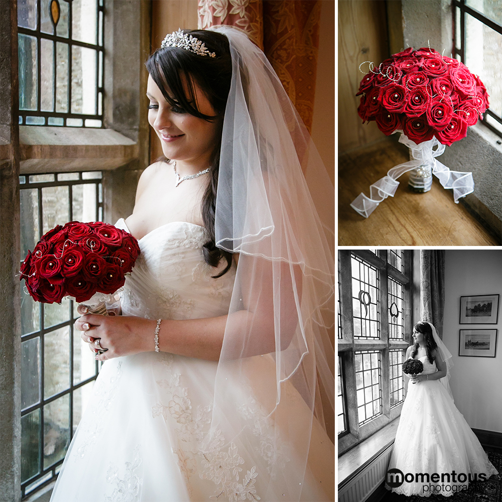 Bride at the window, Plum Park, Northamptonshire