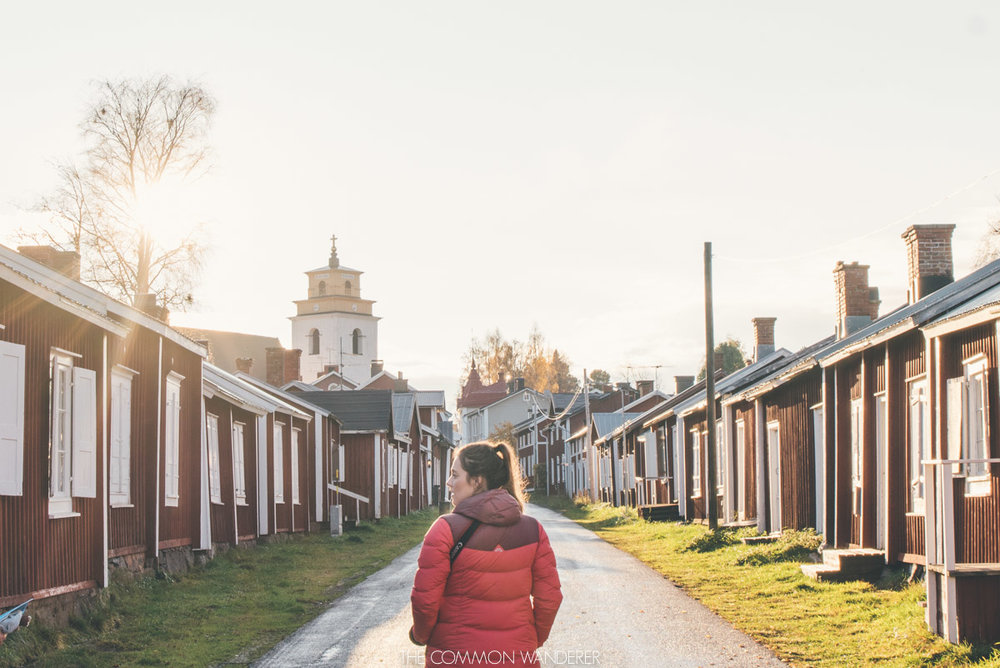 UNESCO world heritage cabins at Gammelstad Church town