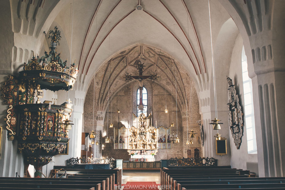 inside the Nederlulea church in Gammelstad church town