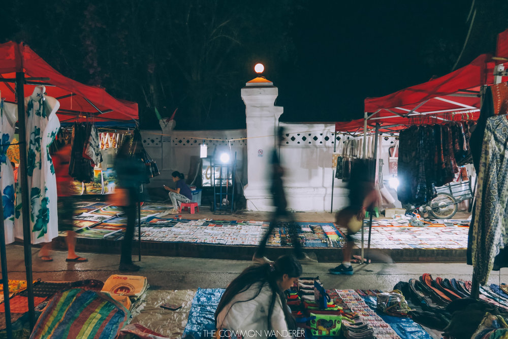 The Luang Prabang night market in Laos