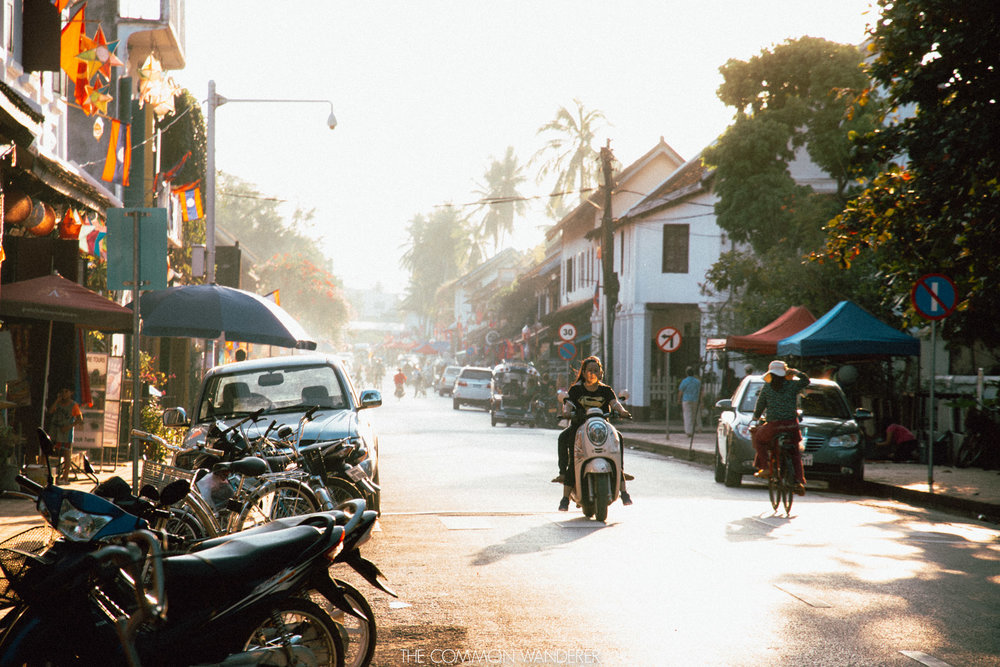 Sunset over the old town of Luang Prabang