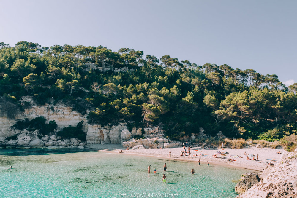 the beautiful beach of Cala Mitjana, Menorca - best destinations to visit in 2018