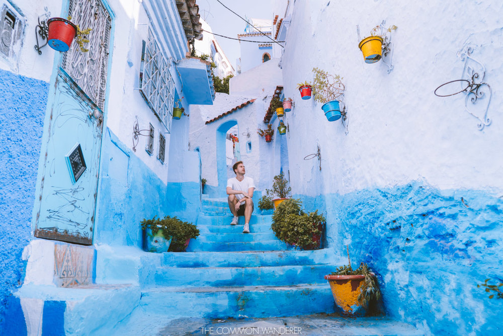 the blue streets of Chefchaouen, Morocco - best destinations to visit in 2018