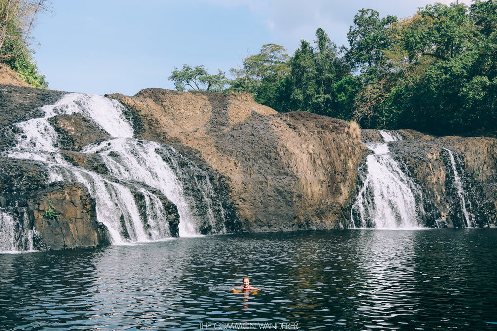 A relaxing swim in Chi Phat, Cambodia