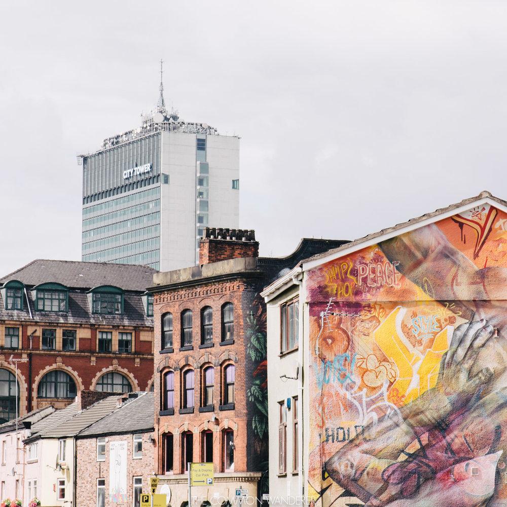 Spirit of Manchester-street art in Manchester's northern quarter