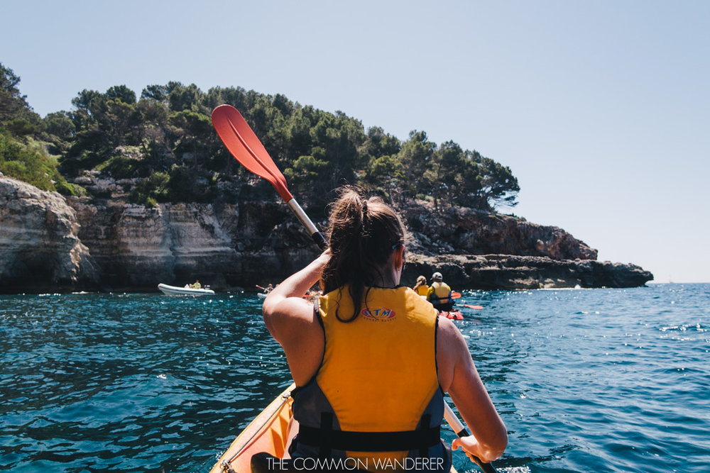 Kayaking in Menorca Spain - The Common Wanderer
