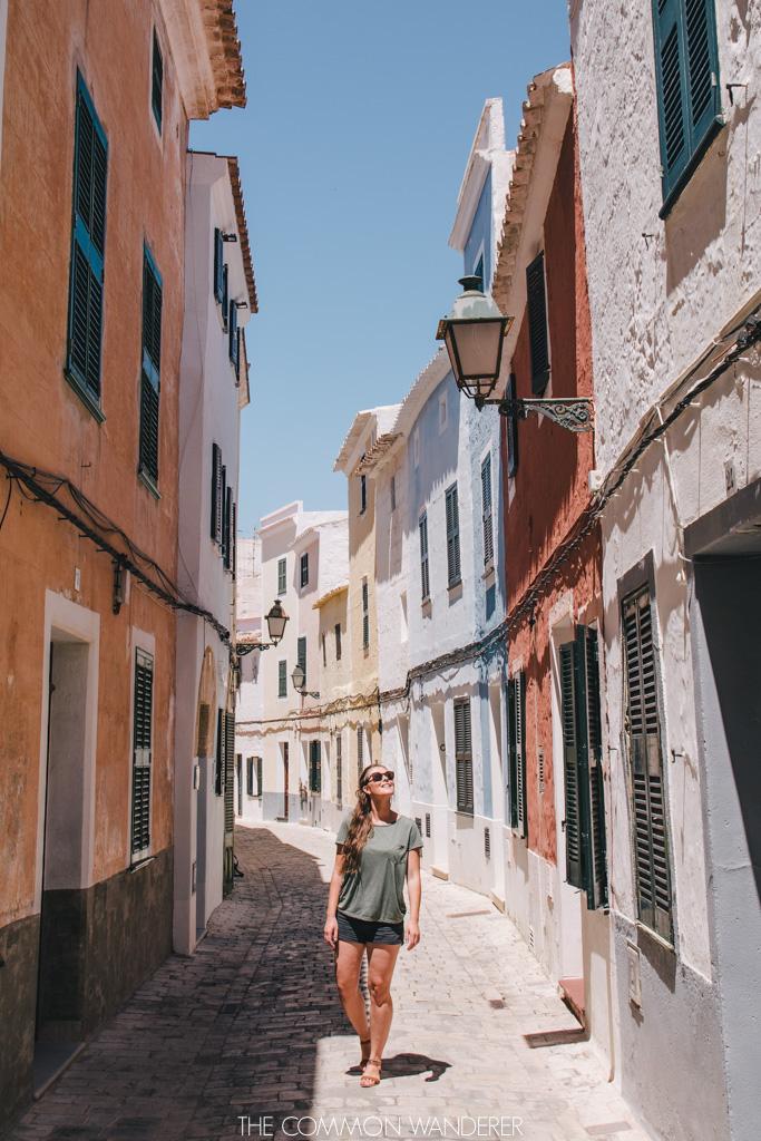 pastel streets in ciutadella minorca - menorca spain