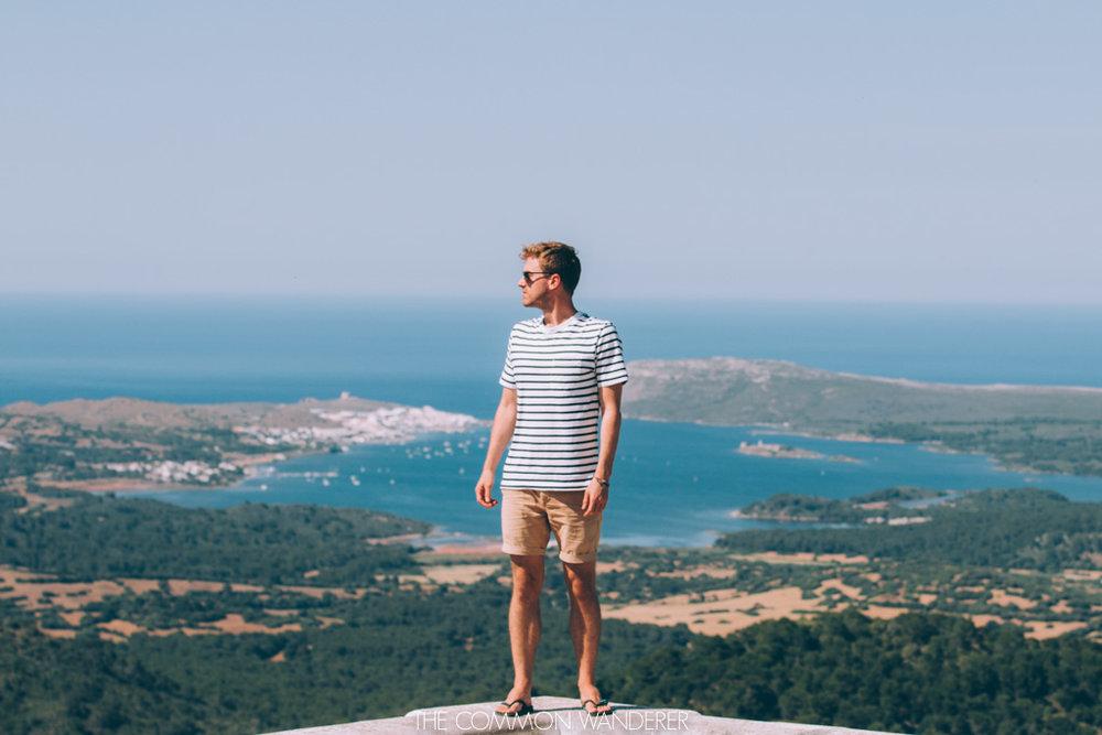Overlooking the island of Menorca from el toro